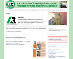 American Romney Breeders Association Website