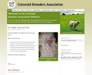 Cotswold Breeders Association Website