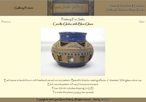 Lynne Brown Pottery Website